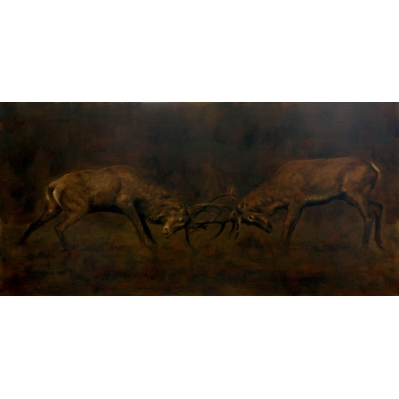 Animal Art Gallery Paris - Combat de Cerfs au Brame - Igor Ly